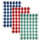 Waitrose Cooking set of 3 gingham tea towels - 3s