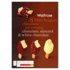 Waitrose 8 mini Belgian chocolate ice creams - 8x50ml