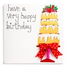 Layered Cake Birthday Card - each