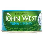 John West pole & line caught tuna chunks in brine - 185g Brand Price Match - Checked Tesco.com 05/03/2014