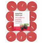 essential Waitrose mulberry tealights - 24s