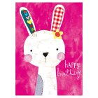Illustrated Bunny Birthday Card - each