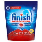 Finish Powerball All in 1 Max Lemon Sparkle 20Tabs - 362g