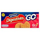 McVitie's Digestives To Go 6x Twin Pack - 6x29.4g