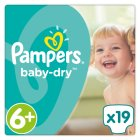 Pampers Baby Dry Sze 6+ Carry 21 Nappies - 19s