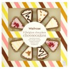 Waitrose 8 Belgian chocolate mini cheesecakes - 120g