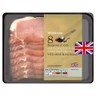 Waitrose speciality wetcure oak smoked Suffolk black bacon - 250g