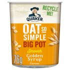 Quaker Oats Oat So Simple Golden Syrup Big Pot - 76g