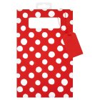 Waitrose red & white spot DVD gift bag -