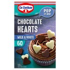 Dr.Oetker chocolate hearts milk & white - 40g Brand Price Match - Checked Tesco.com 05/03/2014