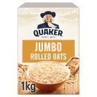 Quaker jumbo original rolled oats porridge - 1kg Brand Price Match - Checked Tesco.com 10/02/2016