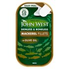 John West mackerel fillets in olive oil - 125g Brand Price Match - Checked Tesco.com 27/08/2014