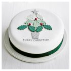 Fiona Cairns White Rose Christmas Cake - 1x1each