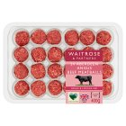 Waitrose 24 Aberdeen Angus lightly seasoned beef meatballs - 12x0.4KG