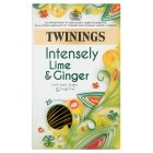 Twinings intensely lime & ginger 20 envelopes - 30g
