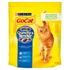 PURINA® GO-CAT® CRUNCHY&TENDER ADULT Cat with Salmon, Tuna & added Vegetables dry food - 375g