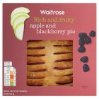Waitrose apple & blackberry pie - 420g