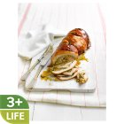 Turkey Breast Roulade With Pork,  Apricot and Ginger Stuffing and a Prosciutto Wrap -