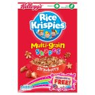 Kellogg's rice krispies multi-grain shapes strawberry - 325g