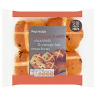 Waitrose Mini Chocolate Orange Hot Cross Buns - 9s