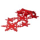 Waitose Home Red Felt Snowflake Table Runner -