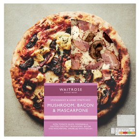 Waitrose Mushroom, Bacon & Mascarpone Pizza