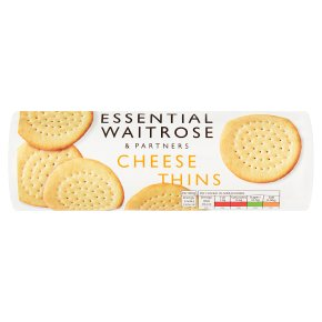 essential Waitrose cheese thins