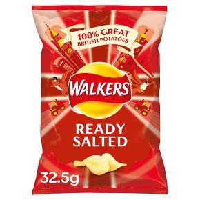 Walkers ready salted plain single crisps