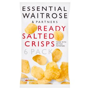 essential Waitrose ready salted crisps