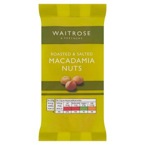 Waitrose roasted salted macadamia nuts