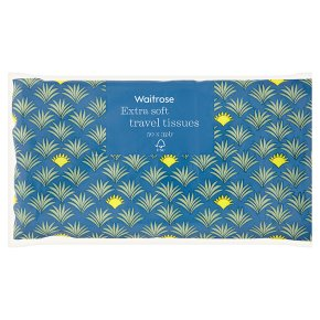 Waitrose soft white travel tissues