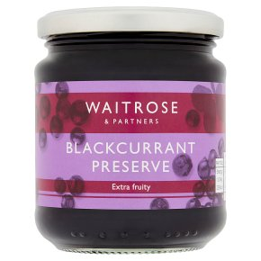 Waitrose blackcurrant preserve