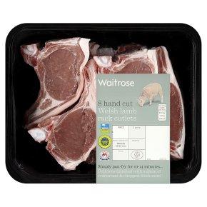 Waitrose 8 hand cut Welsh lamb rack cutlets