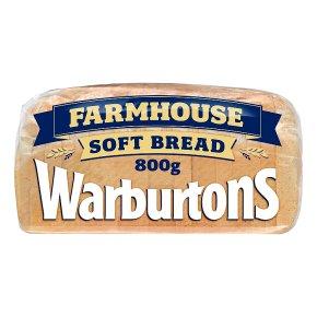 Warburtons soft white sliced farmhouse bread