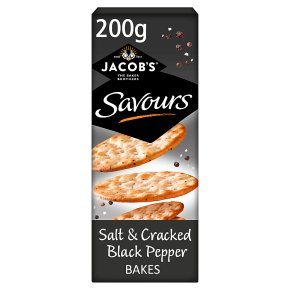 Jacob's Savours Salt & Cracked Black Pepper Bakes