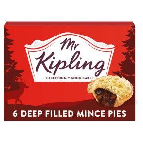 Mr Kipling 6 deep filled mince pies