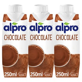 Alpro longlife dairy free soya chocolate drink, pack of 3