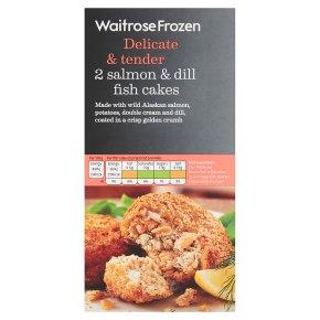 Waitrose Frozen salmon & dill fish cakes