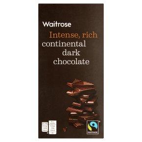 Waitrose continental plain chocolate
