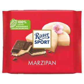 Ritter Sport plain chocolate marzipan filling