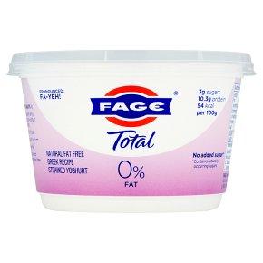 Total 0% fat free Greek strained yoghurt