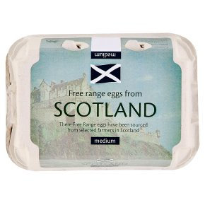 Scottish free range medium eggs