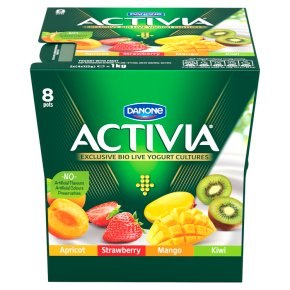 Activia strawberry, mango, apricot and kiwi yogurt variety pack