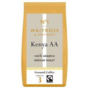 Waitrose 1 Kenya AA 100% arabica ground coffee