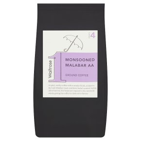 Waitrose 1 monsooned malabar AA ground coffee