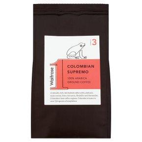 Waitrose 1 Colombian supremo 100% arabica ground coffee