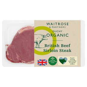 Waitrose Duchy Organic British beef sirloin steak