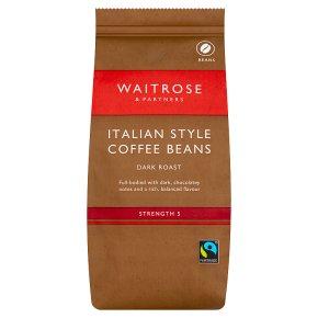 Waitrose Intense, Dark & Distinctive Italian Style Coffee Beans