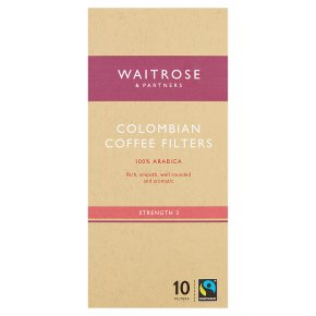 Waitrose 10 coffee filters Colombian blend