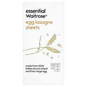Essential Egg Lasagne Sheets